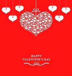 valentine label red vector image