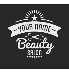 Vintage barber shop logo and beauty spa salon vector image