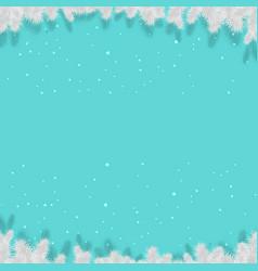 winter xmas poster vector image