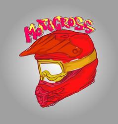 helmet motocross vector image