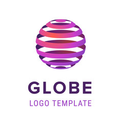abstract sphere with lines logo design template vector image vector image