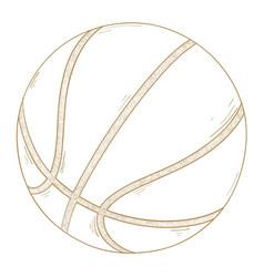 basketball ball hand drawn sketch vector image vector image