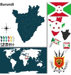 Burundi map world vector image vector image