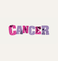Cancer concept colorful stamped word vector