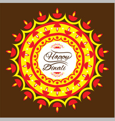 Happy diwali greeting design vector