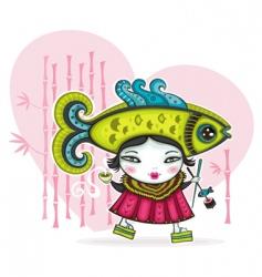 japan love vector image