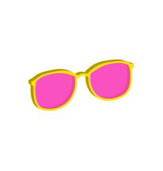 pink glasses eyeglasses symbol flat isometric vector image