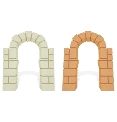 Stone architectural isometric 3d arch vector image