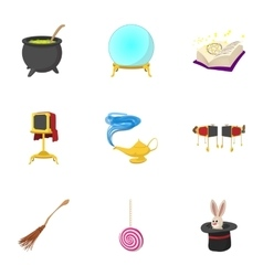 Tricks icons set cartoon style vector image