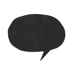 bubble shape black vector image vector image