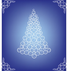 curly christmas tree vector image vector image