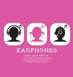 Earphones eps10 vector