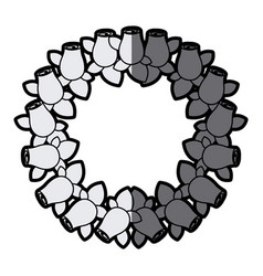gray scale silhouette crown drawing rosebuds with vector image vector image