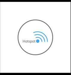 Hotspot solid icon mobile sign and wifi zone vector