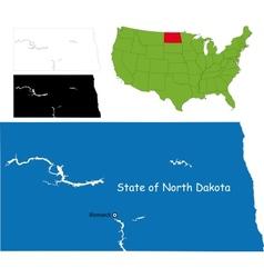 North dakota map vector image vector image