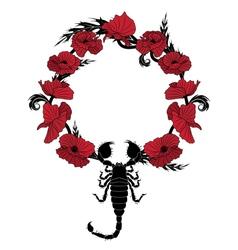 poppy and scorpion vector image