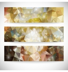 Set of colored abstract backgrounds triangle vector image vector image