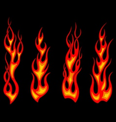 Tribal tattoo flames set for fantasy design vector image vector image