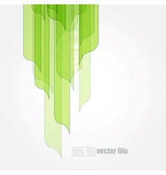 abstract green leaves eco background vector image vector image