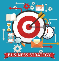Business strategy Flat banner vector image