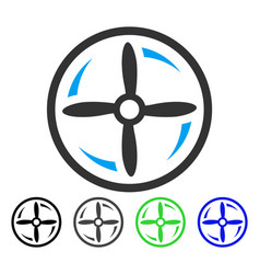drone screw rotation flat icon vector image