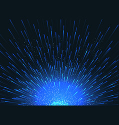 exploding star in space abstract blue vector image
