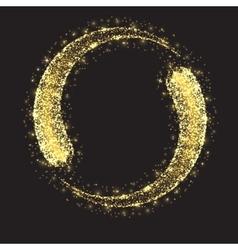Glittering star dust circle vector image