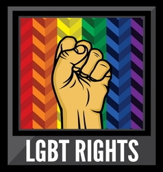 lgbt rights1 vector image vector image