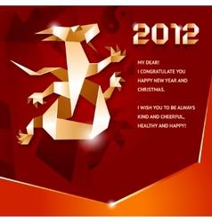 origami dragon 2012 vector image