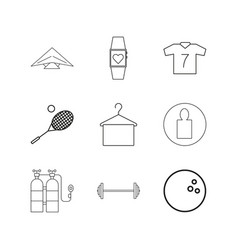 sport and wellness linear icon set simple outline vector image vector image