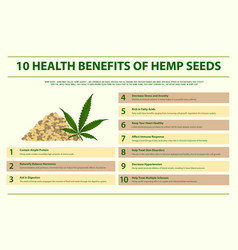 10 health benefits hemp seeds horizontal vector