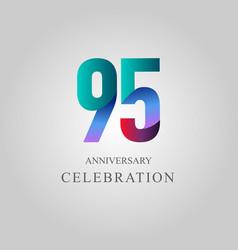 95 year anniversary celebration template design vector