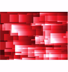 abstract red geometric square background vector image