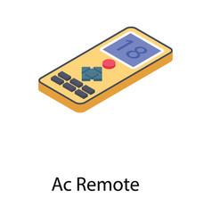 Ac remote controller vector