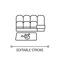 Accessible seating linear icon vector