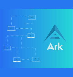 Background ark cryptocurrency networking vector