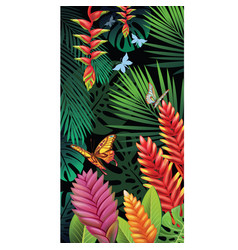 background with tropical jungle plants vector image