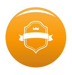 badge best quality icon orange vector image