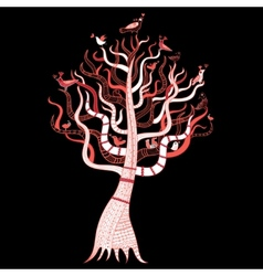 beautiful magic tree vector image