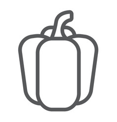 bell pepper line icon vegetable and diet vector image