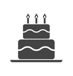 birthday cake flat icon fresh pie muffin on white vector image
