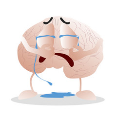 Brain crying emotion disorder vector