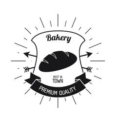 bread shield ribbon bakery icon graphic vector image