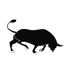 Bull icon simple style vector