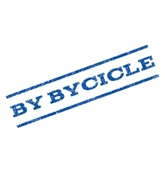 By Bycicle Watermark Stamp vector