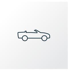 cabriolet icon line symbol premium quality vector image