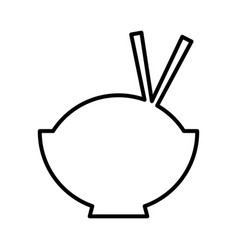 chinese rice food icon vector image
