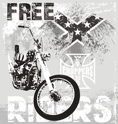 choppers riders vector image