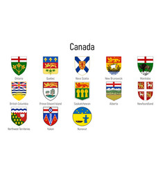 coat arms provinces canada all vector image