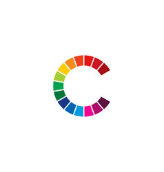Color letter c logo icon design vector